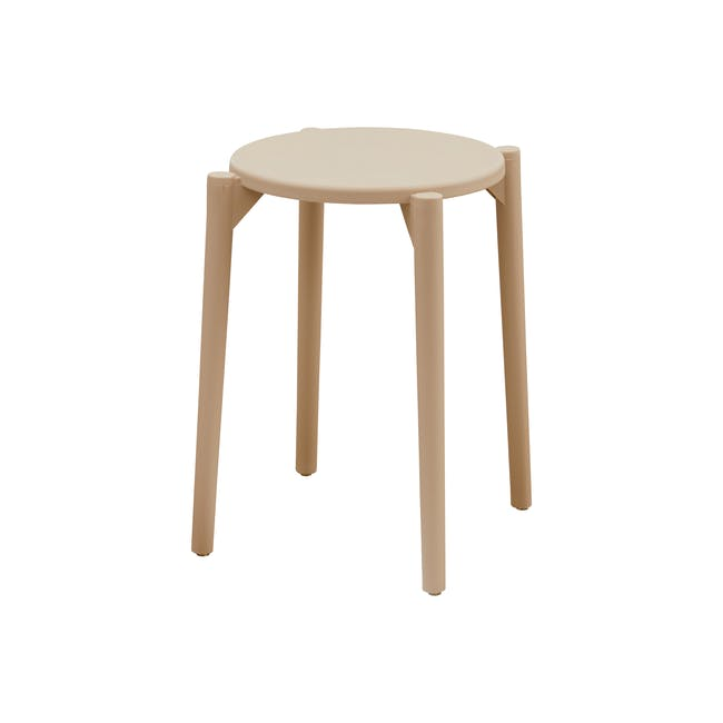 Olly Stackable Stool - Taupe - 0