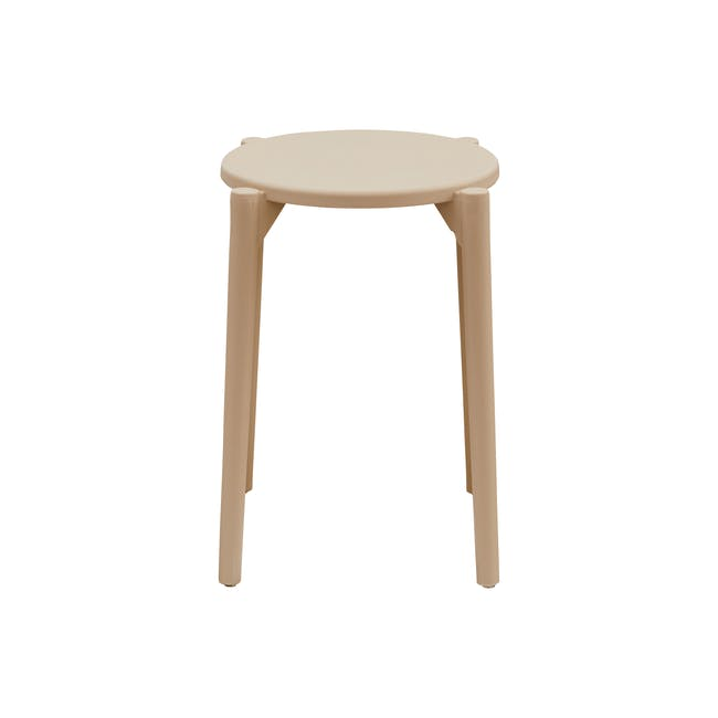 Olly Stackable Stool - Taupe - 2