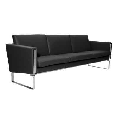 Wegner Ch101 3 Seater Sofa - Italian Leather - Image 2