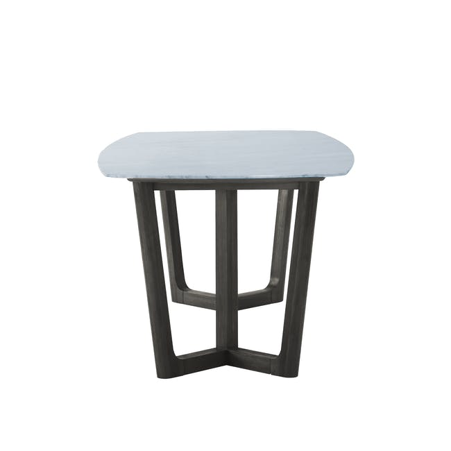 Carson Marble Dining Table 2m with 4 Edson Dining Armchairs - 5