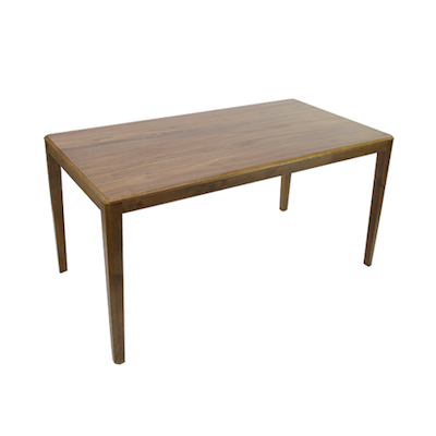 (As-is) Amelia 6 Seater Dining Table - Walnut - Image 1