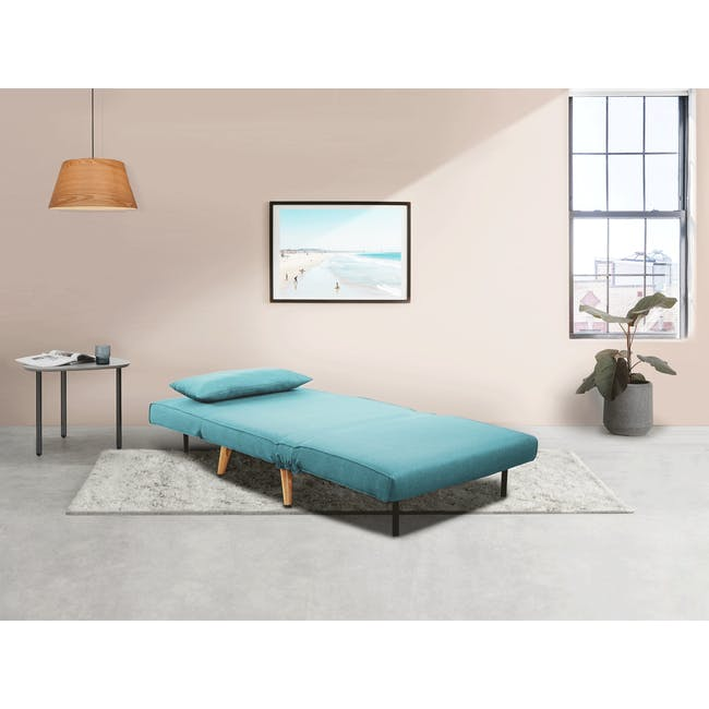 Noel 2 Seater Sofa Bed with Noel Sofa Bed - Teal - 3