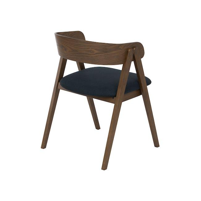 Melda Dining Armchair - Cocoa, Navy - 2