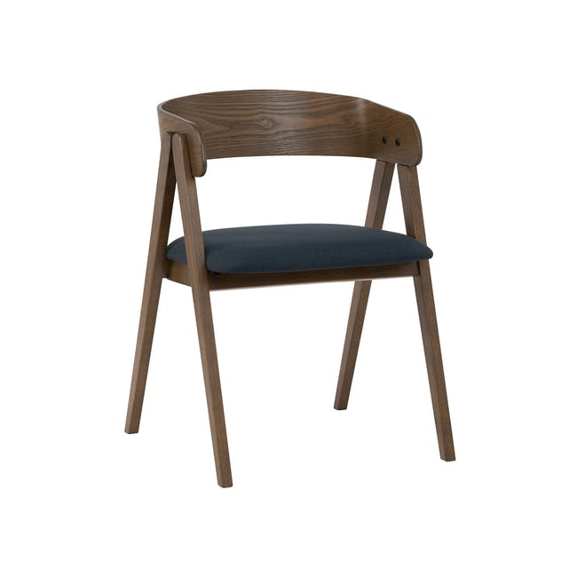 Melda Dining Armchair - Cocoa, Navy - 0