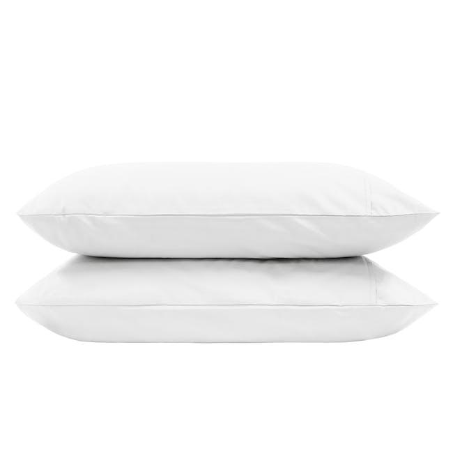 (Single) Aurora Fitted Sheet 4-pc Set - White - 3