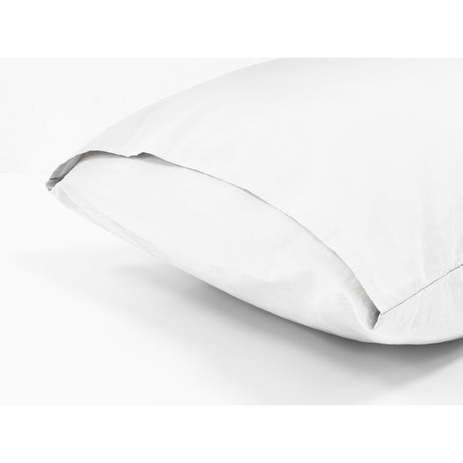 (Single) Aurora Fitted Sheet 4-pc Set - White - 4