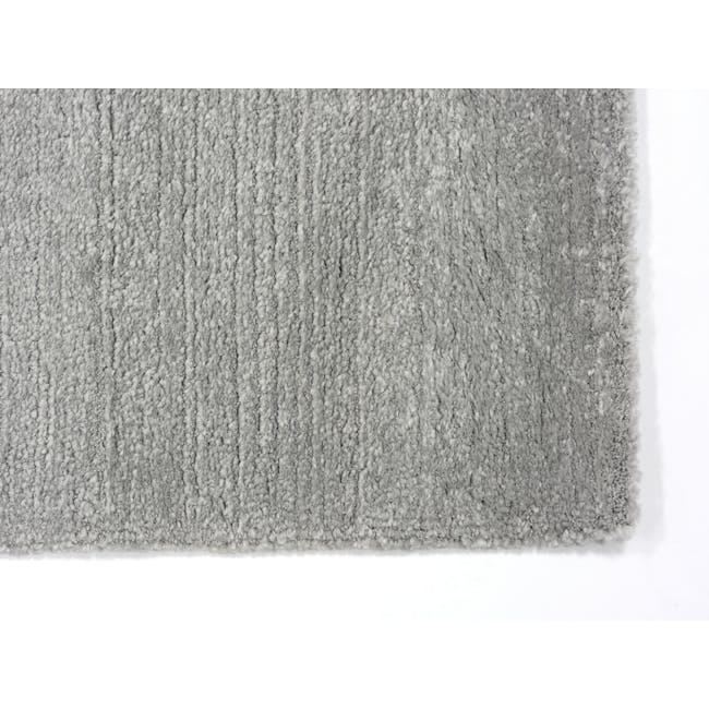 Fjord Low Pile Rug 2.9m x 2m - Silver Squares - 1