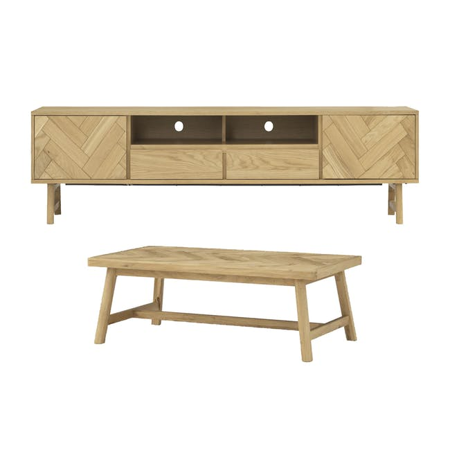 Gianna TV Console 2.2m with Gianna Coffee Table - 0