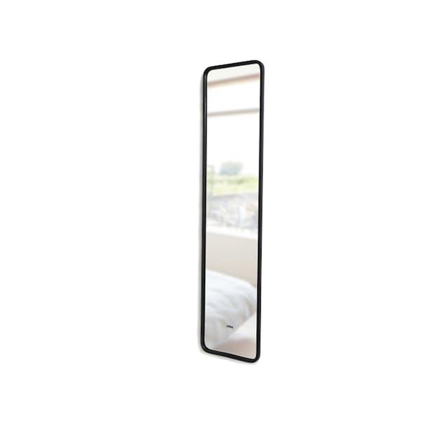 Hub Leaning Mirror 37 x 157 cm - Black - 2