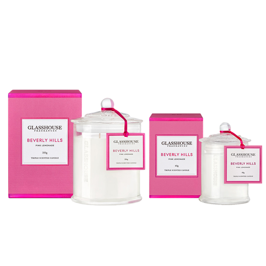 Glasshouse Fragrances - Beverly Hills Candle - Pink Lemonade
