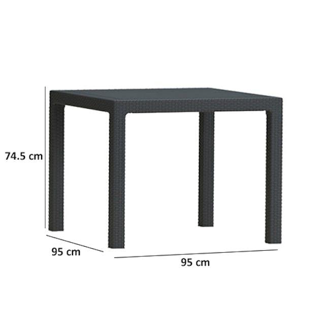 Quartet Outdoor Table - Grey - 3