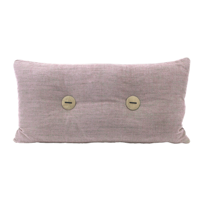 Distintivo Rectangle Cushion - Misty Rose, Down Feathers (Domett Fabric) - Image 1