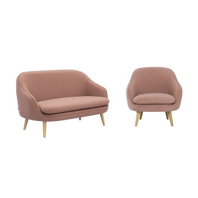 Quinn 2 Seater Sofa with Quinn Armchair - Burnt Umber - 0