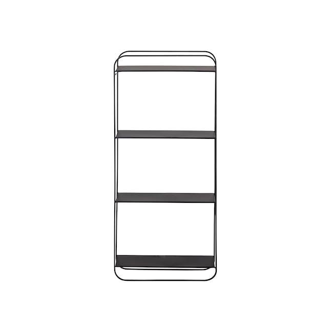 Juan Tall Wall Shelf - Black - 0