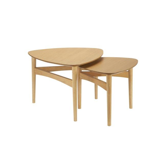 Poet Occasional Table Set - Oak - 0