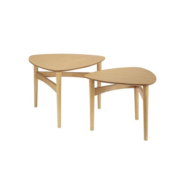 Poet Occasional Table Set - Oak - 4