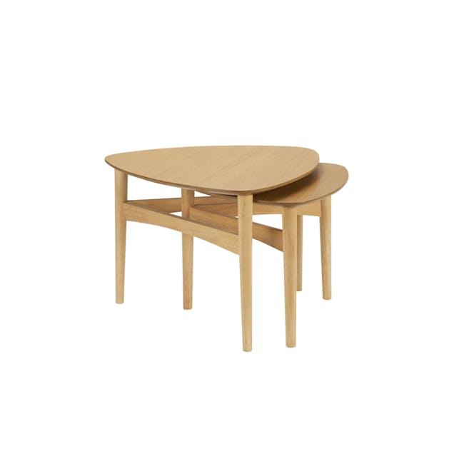 Poet Occasional Table Set - Oak - 3