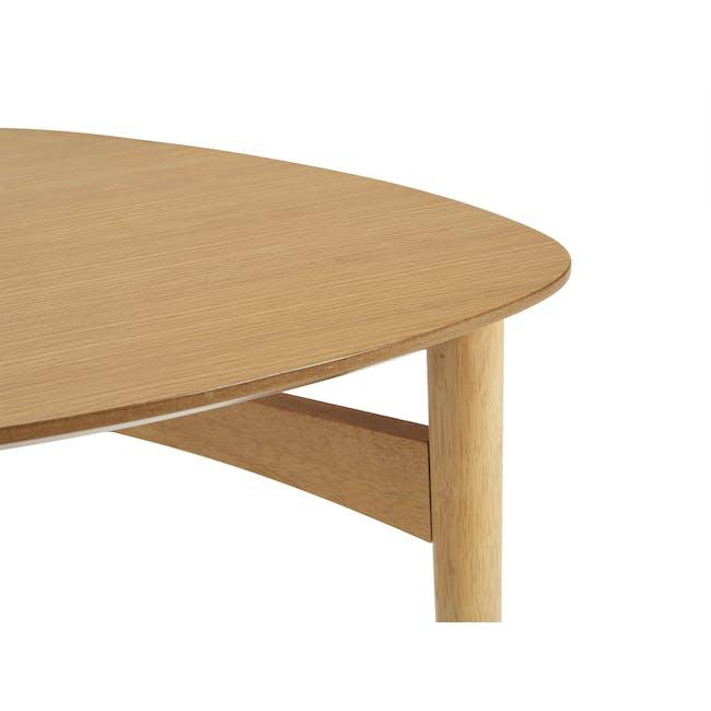 Poet Occasional Table Set - Oak - 5