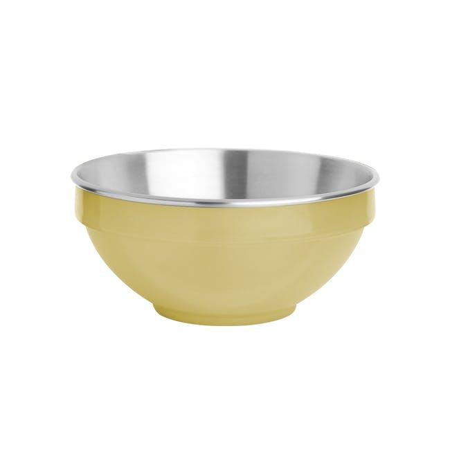 Zebra Stainless Steel Colour Bowl - Yellow (2 Sizes) - 0