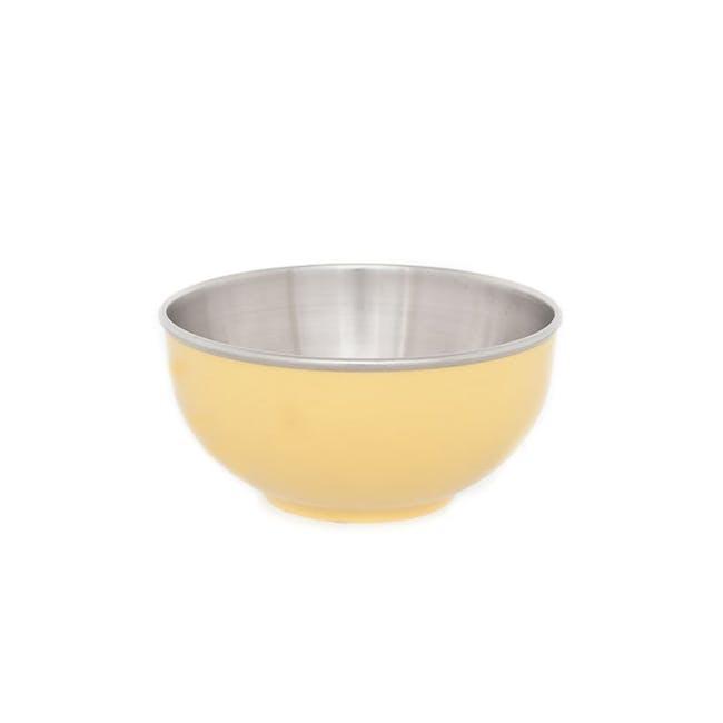 Zebra Stainless Steel Colour Bowl - Yellow (2 Sizes) - 1