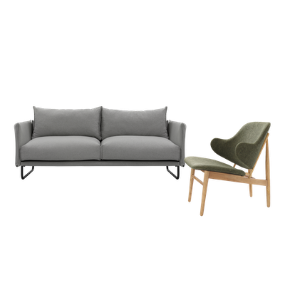 Frank 3 Seater Sofa with Veronic Lounge Chair - Image 1