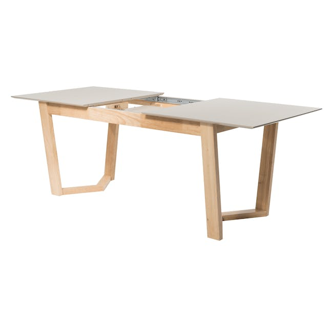 Meera Extendable Dining Table 1.6m - Natural, Taupe Grey - 2
