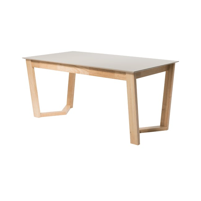 Meera Extendable Dining Table 1.6m - Natural, Taupe Grey - 0