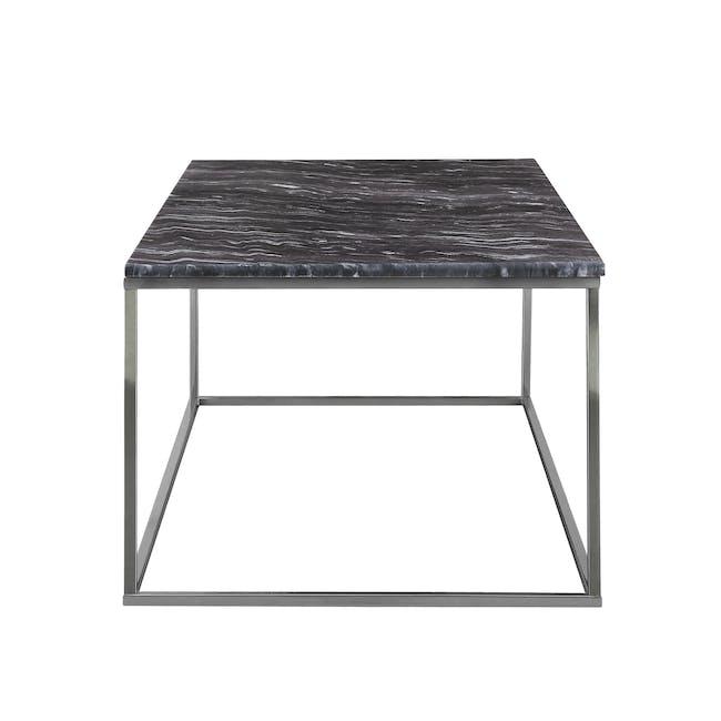 Amelia Marble Side Table - Grey, Chrome - 1