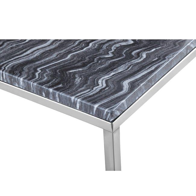 Amelia Marble Side Table - Grey, Chrome - 3