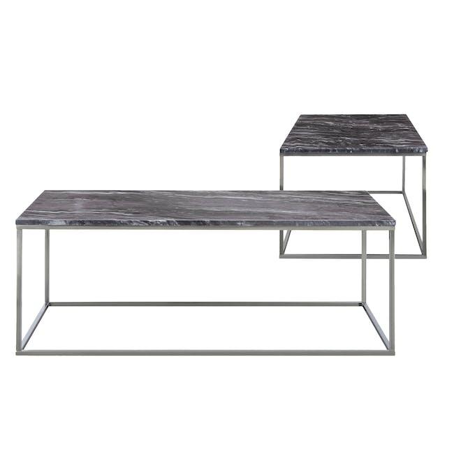 Amelia Marble Side Table - Grey, Chrome - 4