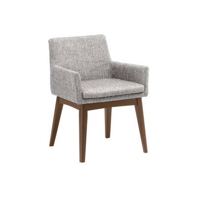 Fabian Dining Chair with Armrests - Cocoa, Pebble - Image 1