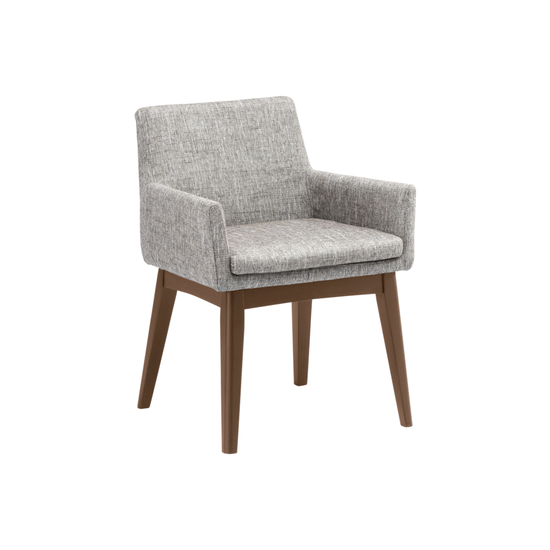 malmo fabian dining chair with armrests cocoa pebble