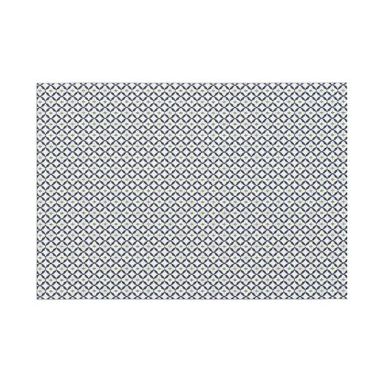 Heritage Carpets - Star Flatwoven Rug 2.9m x 2m - Blue Quatrefoil