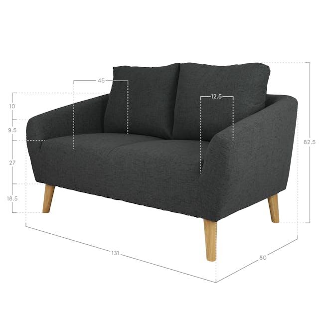 Hana2 Seater Sofa - Charcoal - 8