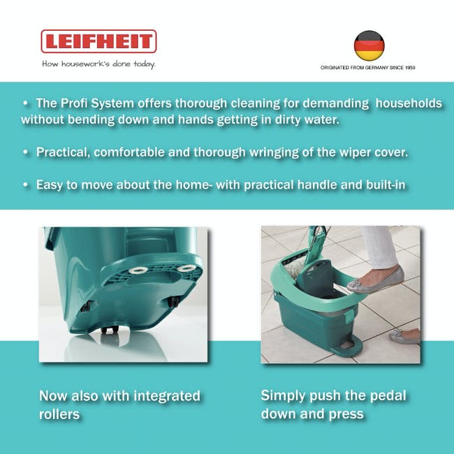 Leifheit Profi System High Quality Press Mop with Bucket Set - 4