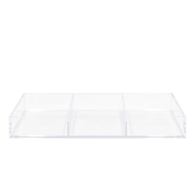 Nakabayashi Acrylic Tray - 3 Compartments - 0