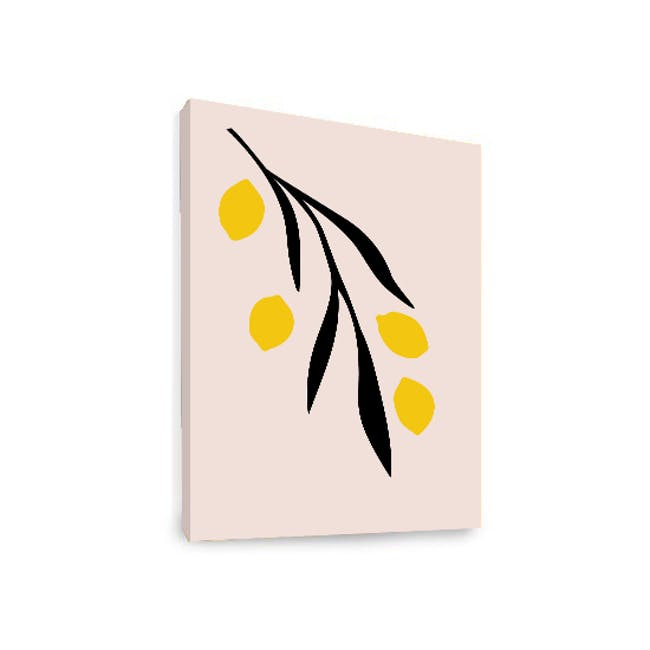 Graphic Art Print on Stretched Canvas 50cm by 70cm - Lemons - 1