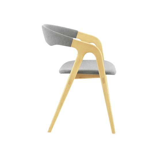 Preloved - (Display Piece) Ganit Dining Chair - Squirrel Grey, Oak - 1
