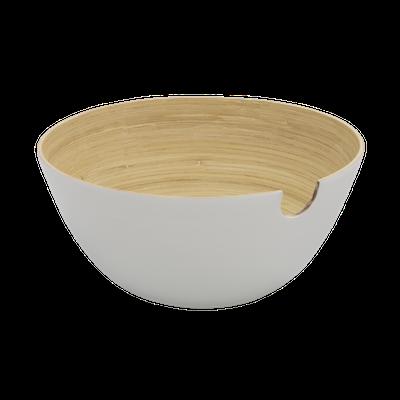 Rowan Bamboo Salad Bowl - White - Image 2
