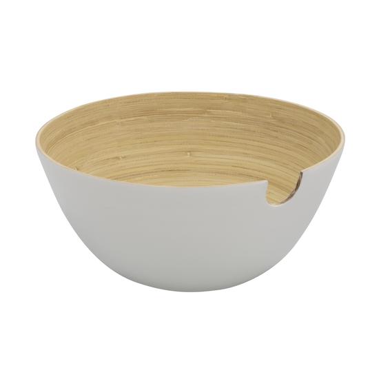 Green Home - Rowan Bamboo Salad Bowl - White
