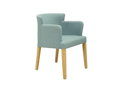 Rhoda Armchair - Natural, Aquamarine