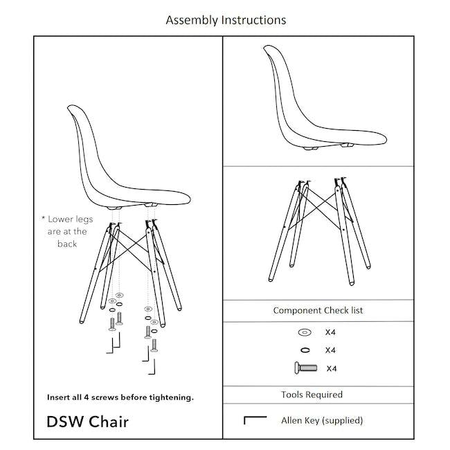 DSW Chair Replica - Natural, White - 3