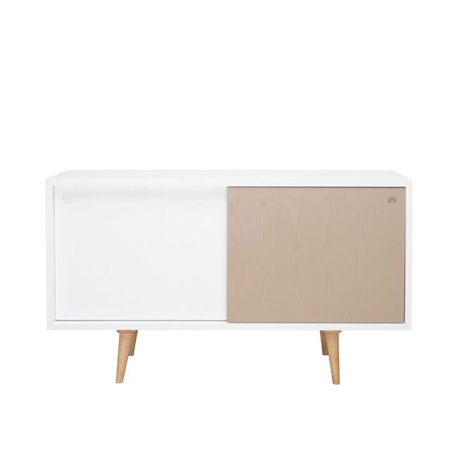 Martin Sideboard 1.4m - Natural, White, Taupe Grey - 0
