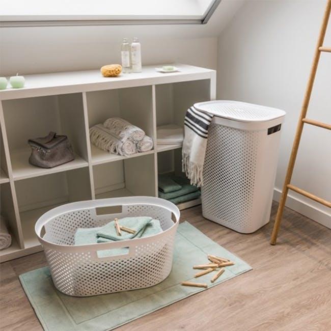Infinity Laundry Basket Dots - White - 1