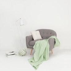 Leno Weave Cotton Throw - Sea Foam Green