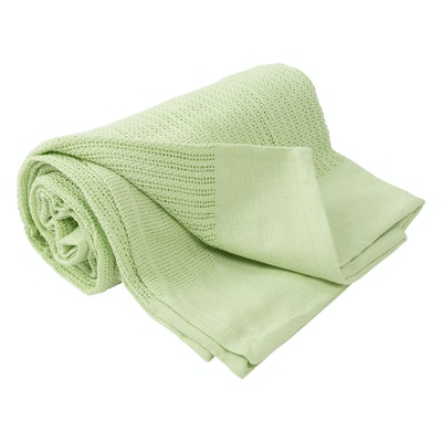 Leno Weave Cotton Throw - Sea Foam Green - Image 1