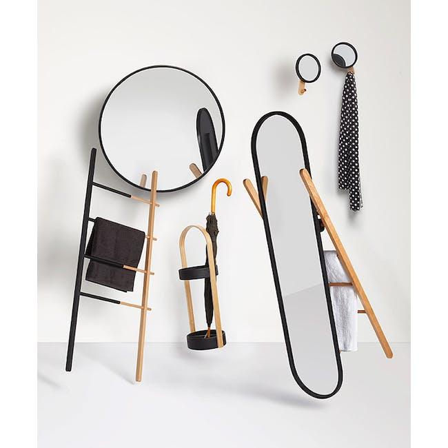 Hub Umbrella Stand - Black, Walnut - 6