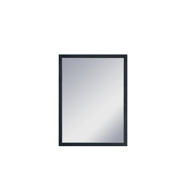 Hosta Half-Length Mirror 30 x 40 cm - Black - 0