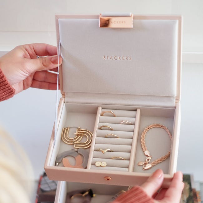 Stackers Mini Jewellery Box with Lid - Blush - 1
