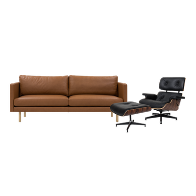 Rexton 3 Seater Sofa and Eames Lounge Chair and Ottoman - Image 1